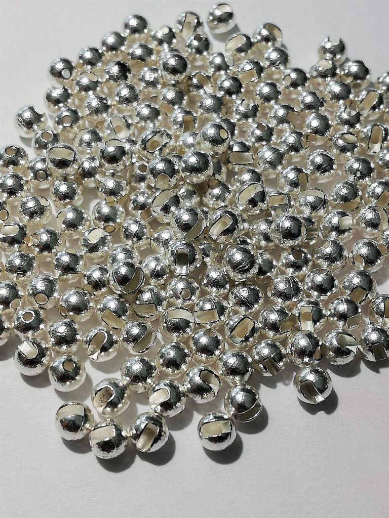 Soldarini Tungsten Bead Slotted Silver