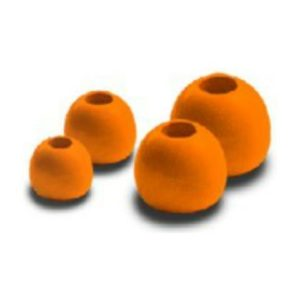 Majora Brass Bead Hot Orange